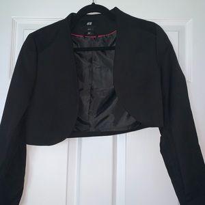 H and m long sleeve simple black blazer